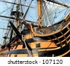 Admiral Nelsons flagship, H.M.S. Victory. - stock photo