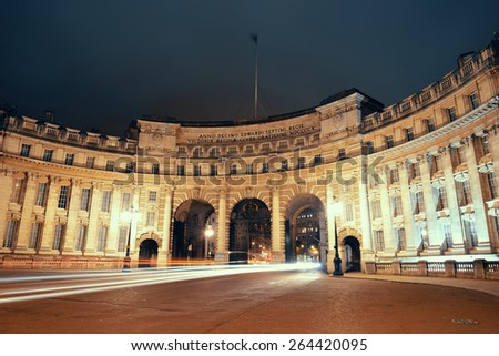 Admiralty Arch near Trafalgar Square in London as the entrance to The Mall. - stock photo