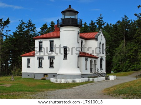 Admiralty point Lighthouse in fort Casey on whidbey island, Washington