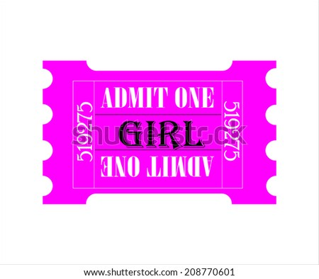 admission ticket for one - girl