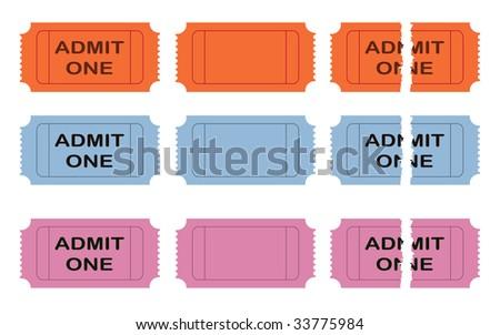 Admit one cinema ticket - stock photo
