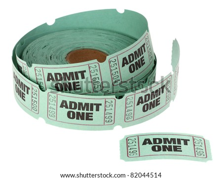 Admit One Roll of Tickets - stock photo