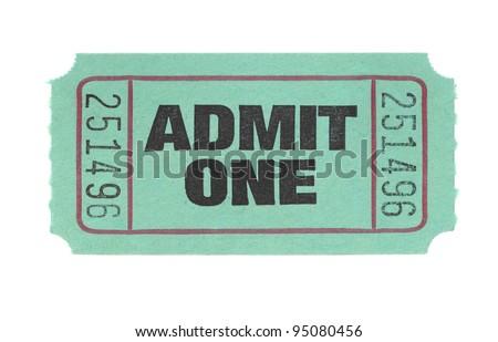 Admit One Ticket - stock photo