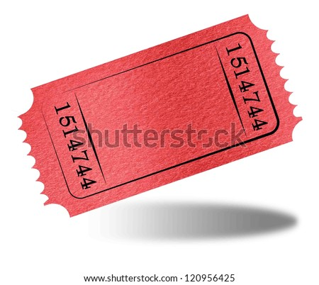 Admit ticket on a solid white background