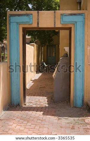 Adobe Doorway - stock photo