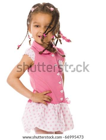 Adorable african little girl. - stock photo