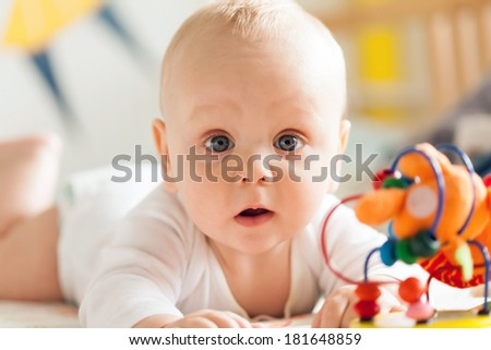 adorable baby - stock photo
