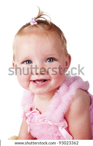 adorable baby girl smiling portrait