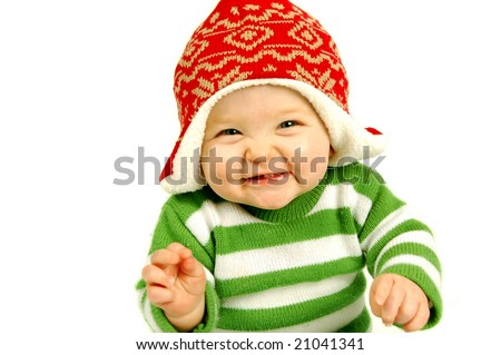 Adorable Boy ready for Christmas - stock photo