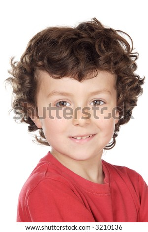 adorable casual child a over white background
