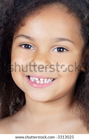 adorable casual girl a over white background