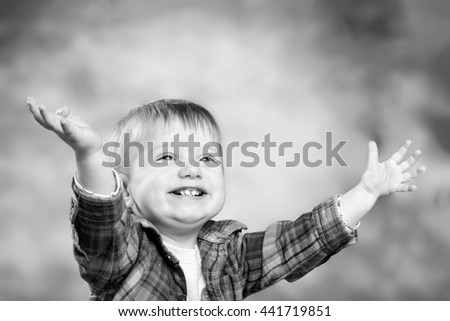 Adorable happy little boy - stock photo