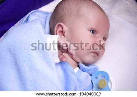 adorable little baby boy - stock photo