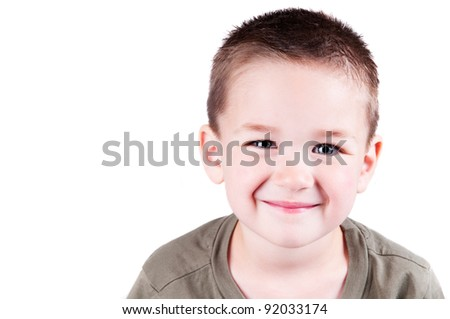 adorable little boy isolated on a white background for cutout - stock photo