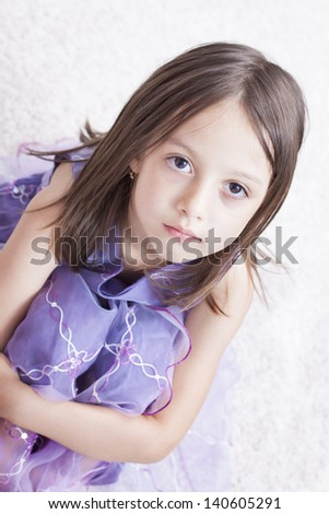 adorable little girl - stock photo