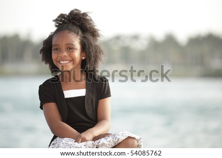 Adorable little girl smiling - stock photo