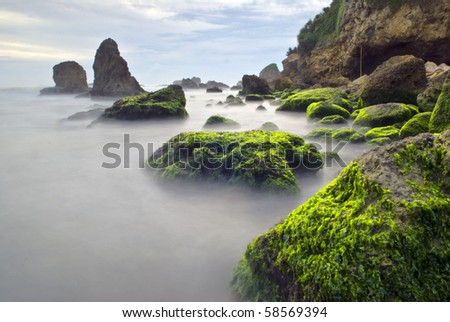 Adraga beach - stock photo