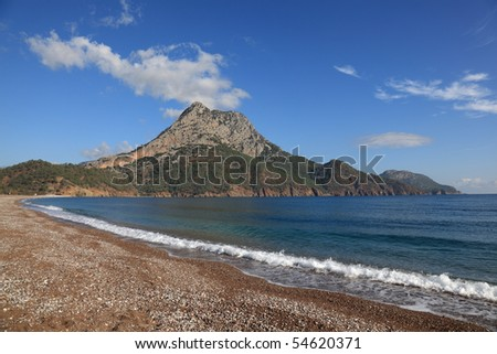 Adrasan Beach - stock photo