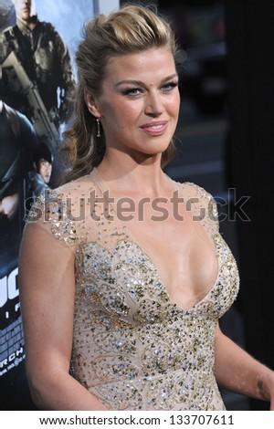 """Adrianne Palicki at the Los Angeles premiere of her movie """"G.I. Joe: Retaliation"""" at the Chinese Theatre, Hollywood. March 28, 2013  Los Angeles, CA Picture: Paul Smith - stock photo"""