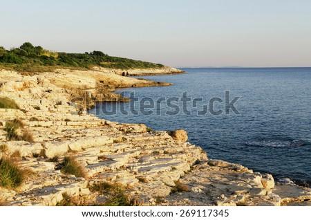 Adriatic coastline, Croatia, Istria, cape Kamenjak - stock photo
