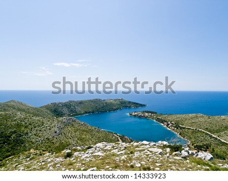 Adriatic island Lastovo landscape with lighthouse, Croatia