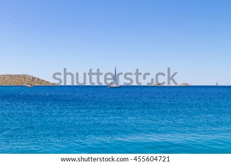 Adriatic sea by National Park Kornati in Croatia at Adriatic sea, Mediterranean, Europe - stock photo