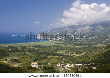 Adriatic sea coast in the Montenegro