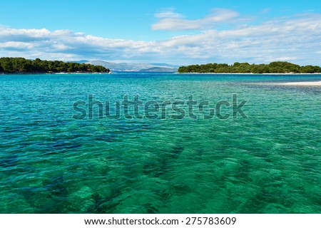 Adriatic Sea coastline in Croatia