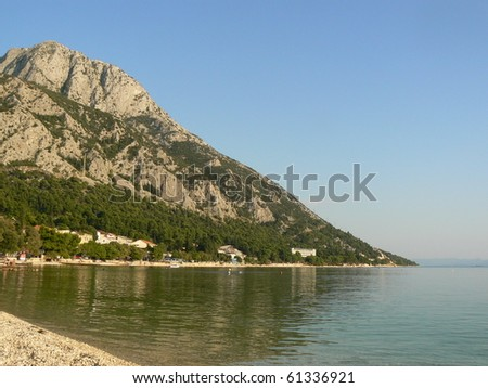Adriatic sea in Croatia - stock photo
