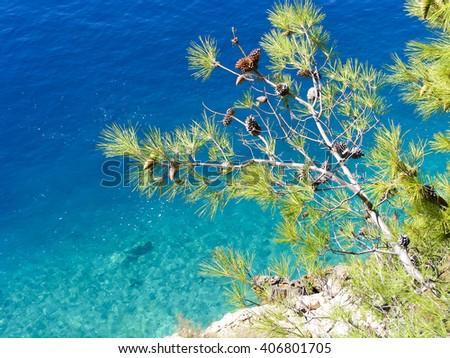Adriatic Sea, Makarska Riviera, Croatia - stock photo