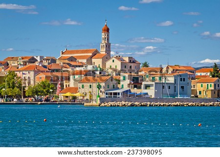 Adriatic village of Betina skyline, Island of Murter, Croatia - stock photo