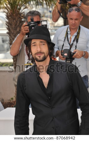 "Adrien Brody at the photocall for his new movie ""Midnight in Paris"" at the 64th Festival de Cannes. May 11, 2011  Cannes, France Picture: Paul Smith / Featureflash"