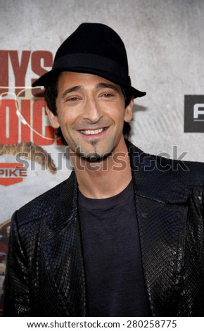 Adrien Brody at the 2010 Spike TV's Guys Choice Awards held at the Sony Pictures Studios in Culver City on June 5, 2010.