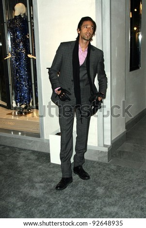 Adrien Brody at the Tom Ford Beverly Hills Store Opening, Tom Ford, Beverly Hills, CA. 02-24-11