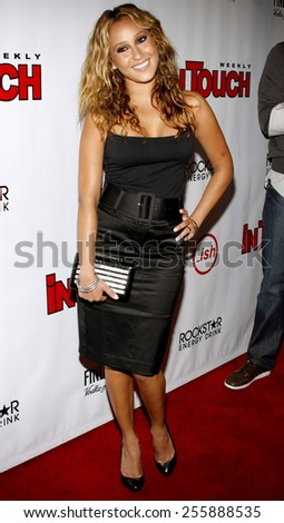 Adrienne Bailon attends the Summer Stars Party 2008 held at the Social in Hollywood, California, United States on May 22, 2008.  - stock photo