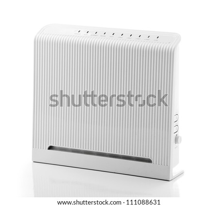 ADSL Wireless Router - stock photo