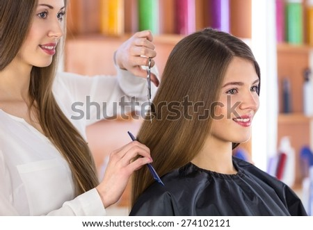 Adult, attractive, barber. - stock photo
