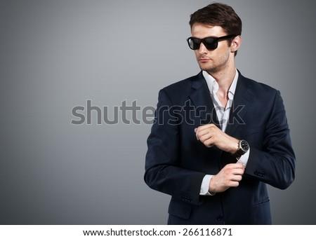 Adult, attractive, caucasian. - stock photo