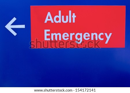 Adult emergency sign - stock photo
