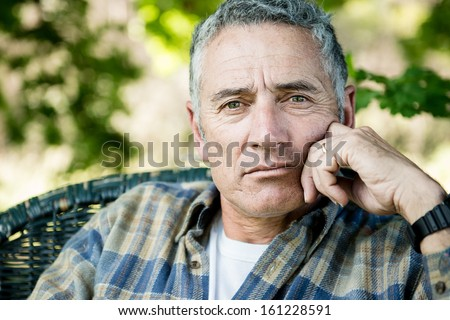 Adult man portrait - stock photo