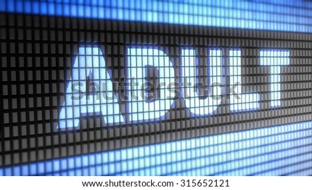 Adult. Proportion 16:9 - stock photo