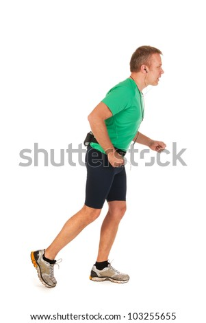 Adult runner is ready to go outdoor - stock photo