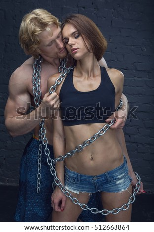 Submissive slave bondage video