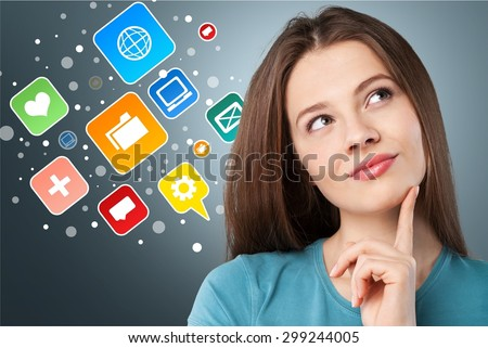 Adult, young, girl. - stock photo