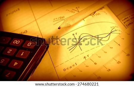 Advanced mathematics - stock photo