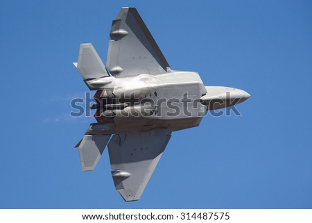 Advanced Tactical Fighter aircraft - stock photo