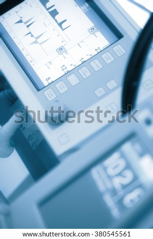 Advanced technology for the modern laboratory. - stock photo