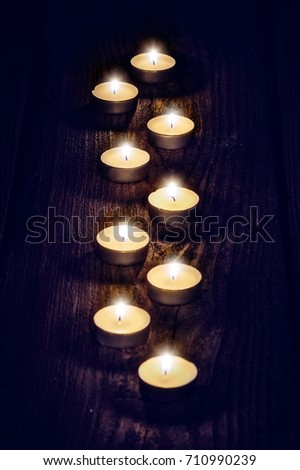 advent candle - candlelight