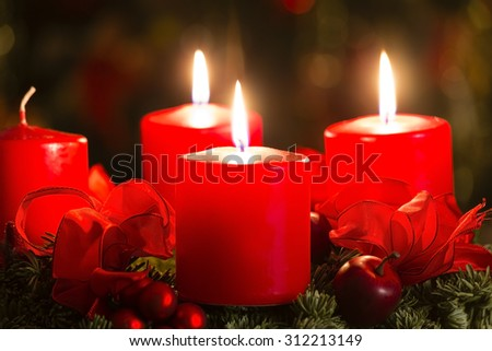 advent wreath for 3. advent