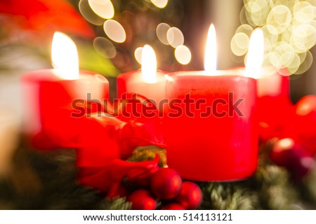 advent wreath for 4. advent